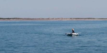 Looking for surf at Bahía Santa Maria