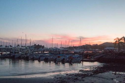 Back in La Cruz at sunset