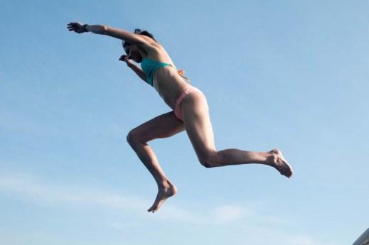 Jumping off the bimini