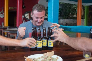 Fighting for Pacifico in Yelapa