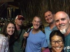 Dinner with our buds, minus Iz, in Mazatlán