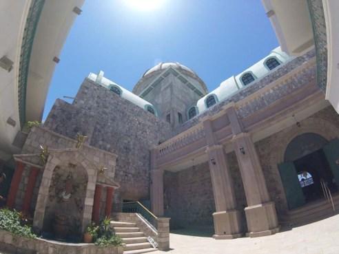 The church courtyard