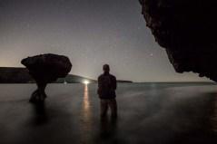 Ry's night selfie at the Mushroom Rock