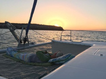 Ry napping at sunset