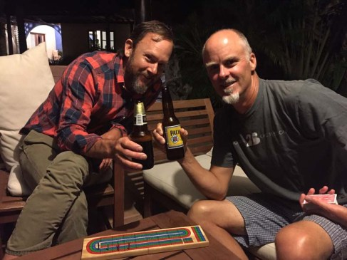 Cribbage at Tripui, Puerto Escondido, with David of S/V Jean Butler