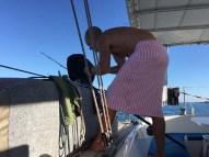 Fishing in a towel en route to Maz