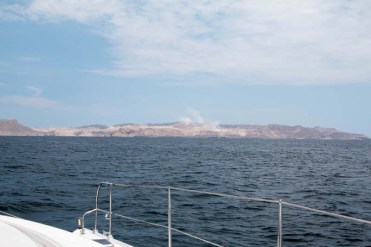 Approaching Isla San Marcos and the massive gypsum mine