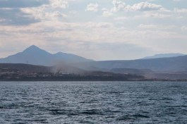 On approach to Santa Rosalia - the smelter plant