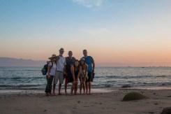 Beach walk between La Cruz and Bucerias with crews of FL, SNL, and Danika