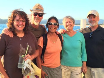 Vannie, Tom, and Barb in Barra