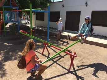 No outing is complete without a little teeter-tottering (PC Rand)