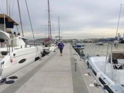 Third mate struttin' her stuff down the dock