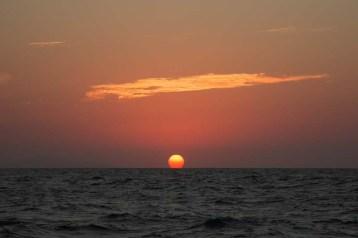 Sunset en route to La Paz