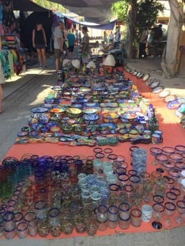 The Wednesday market at La Manz
