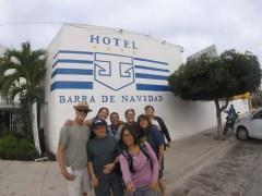 Outside the Barra Hotel (duh)