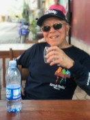 Pop enjoying bottled water