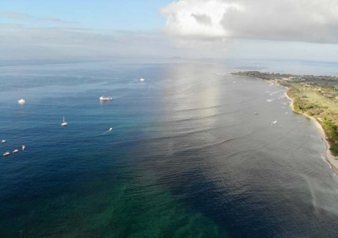 Our launching-off point from Bahía de Banderas, Punta de Mita, from the drone