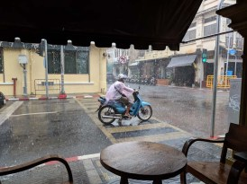 Scooters don't stop for rain
