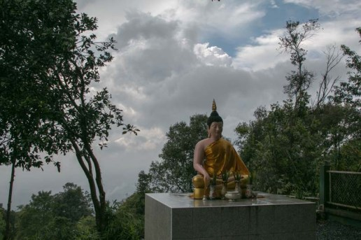 Buddha at the top of the ridge overlooking the park