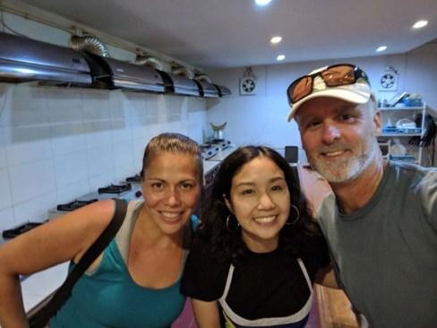 Jenn and Rand's first cooking teacher