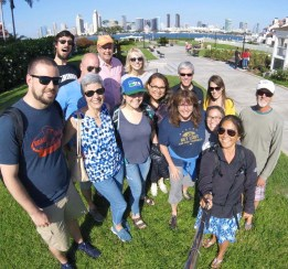 A stroll along the beautiful Coronado waterfront with the Boyer clan