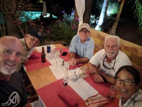 Dinner with the West Coast Multihulls crew in Loreto