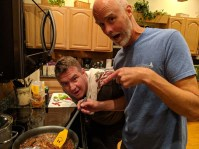 And the boys cooked Thai food for dinner - yum!