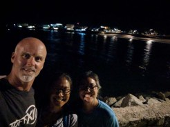 Last night to stroll the malecón