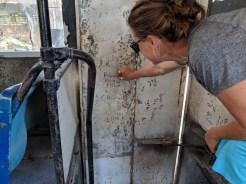 Brenda defacing property on the bus ride to Melaque