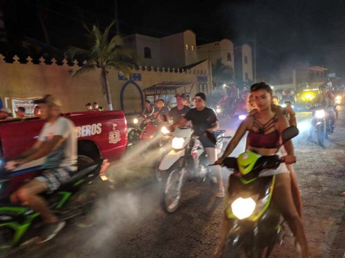 Carnaval parade of bikes