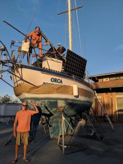 Yard neighbor, John on Orca