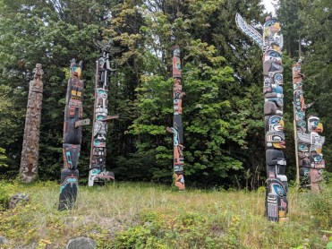 Brockton Point totems