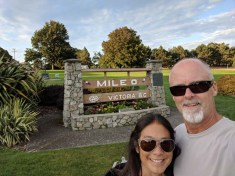 Mile 0 - the symbolic starting points of the Trans-Canada Highway