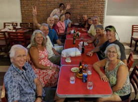 Dinner with our sailing pals