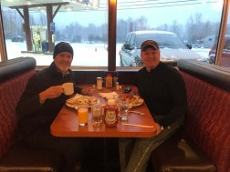 Rand and Tobin grabbing breakfast at -- a gas station in Canado
