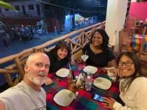 Dinner at Mokeke's with Vannie and Elisha