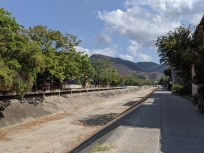 """Walk along the """"river"""" to get to Soriana to provision"""