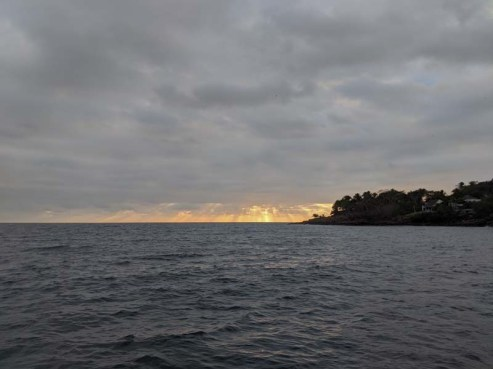 A cloudy sunset over Chacala