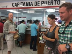 Checking into Mexico in Ensenada with Kristin and Thad of S/V She's No Lady, October 2016
