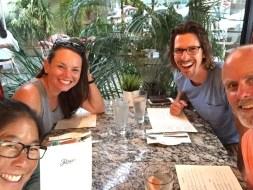 Italian food with S/V Small World in Mazatlán, April 2018
