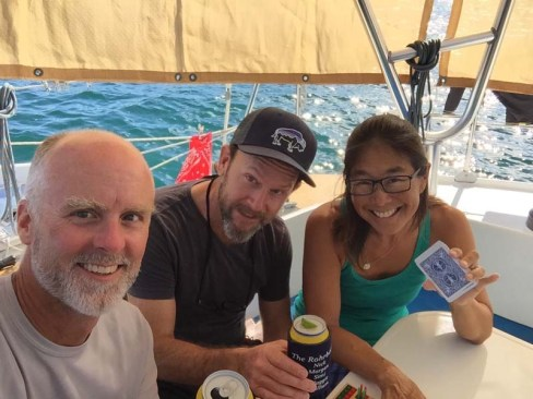 Cribbage with David of S/V Jean Butler in Loreto, May 2018