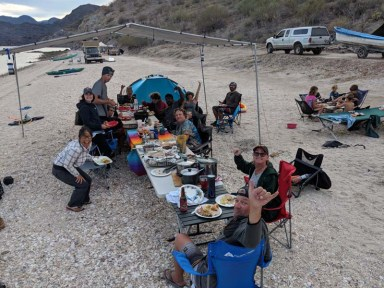 Thanksgiving dinner at Playa Escondida with the Sacketts and their tribe, November 2018