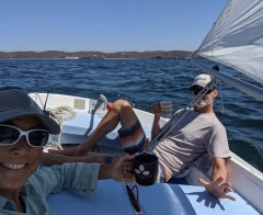 Isolation sail aboard CD in Tenacatita, April 2020