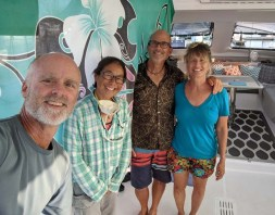 A visit aboard S/V Sky Pond in Maz - the first and last time we'd be aboard anyone else's boat for a long time, June 2020