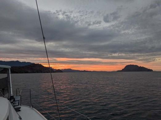 Sunset before Genevieve