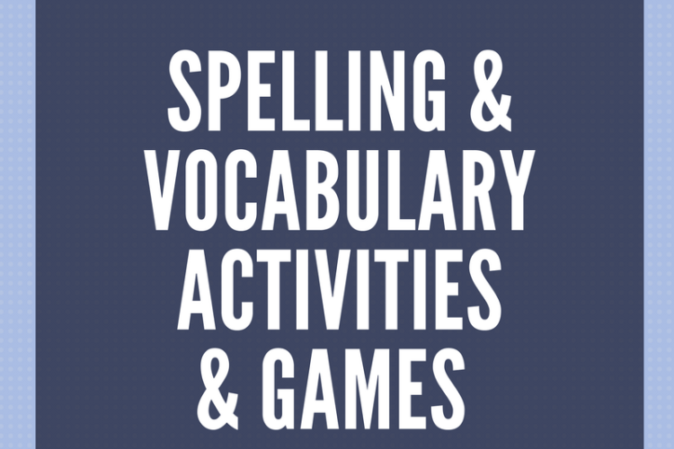 Free Spelling & Vocabulary Activities & Games for 1st-6th