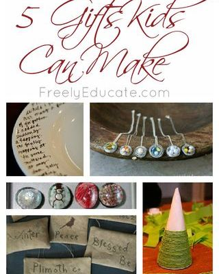 5 Christmas Gifts Kids Can Make