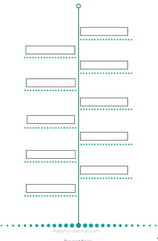 graphic relating to Free Printable Timeline known as Cost-free Printable: A Uncomplicated Timeline Plan