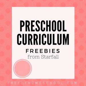 Freebies from Starfall's Preschool Curriculum