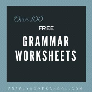 Over 100 free Grammar Worksheets | a Free Grammar eBook